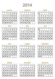 printable calendar yearly 2014 yearly calendar template 2014 dotorial com