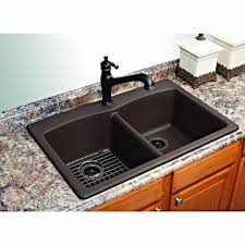 Franke Kitchen Faucets by Franke Dual Mount Composite Granite 33x22x9 1 Hole Double Basin