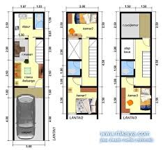 desain rumah lebar 6 meter desain rumah lebar 3 meter 3 lantai 3 kamar tidur jasa desain