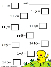 kindergarten math worksheets printable one more reception maths