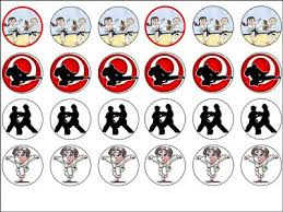 karate cake topper 24 x mixed karate 1 6 wafer rice cup cake toppers