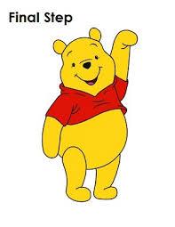 draw winnie pooh step step tutorial winnie pooh