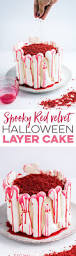 this gloriously ghoulish red velvet cake is perfect for halloween