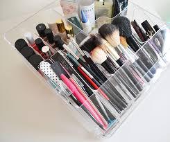 ikea makeup organizer skincare nail polish and brush storage acrylic makeup storage