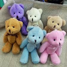 2018 bulk 13cm stuffed animals plush mini teddy with bow mini