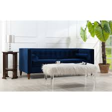 furniture home hightower tufted chesterfield sofa in navy design