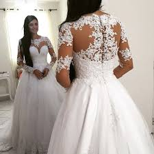 wedding dresses princess sleeve lace gown wedding dresses vintage white