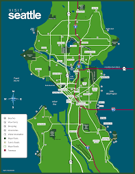 seattle map by district seattle wa road map new map of washington roundtripticket me