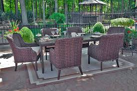 mila collection 6 person all weather wicker luxury patio furniture