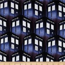 Doctor Who Home Decor by Bbc Doctor Who Packed Tardis Blue Discount Designer Fabric