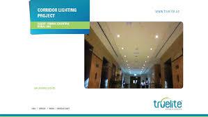 corridor lighting truelite lighting and solar projects truelite energy innovations