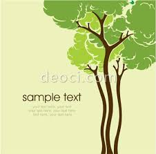 vector cartoon drawing tree book cover green background design