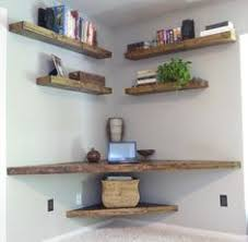 Corner Table Ideas by Floating Corner Shelves Love The Corner Pull Out Drawer For