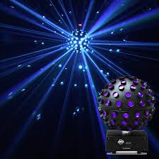 led disco ball light american dj starburst rgbwa purple led mirror ball effect light