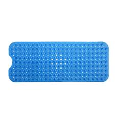 slipx solutions 18 in x 36 in rubber bath mat in white 06600 1 extra long bath mat in blue
