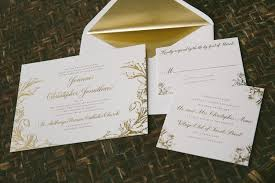 Foil Wedding Invitations Vintage Inspired Gold Foil Wedding Invitations Bella Figura
