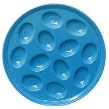 fiestaware egg plate egg plate in scarlet homer laughlin china