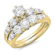 bridal gold ring 2 00 carat ctw 14k gold diamond 3 bridal