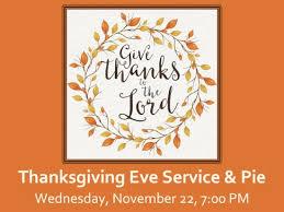 thanksgiving service revive park church