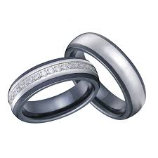 ceramic wedding bands luxury custom tailor handmade titanium inlay black ceramic wedding