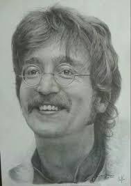 john lennon sketch by imletha deviantart com fan art the beatles