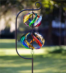 helix metal wind spinner decorative garden accents