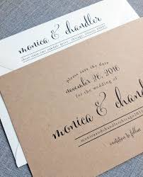 Save The Date Samples Monica Calligraphy Script Recycled Kraft Wedding Save The Date