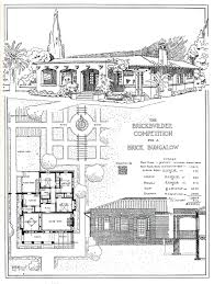 brick bungalow house plans brick bungalow historic floor plans pinterest bricks and
