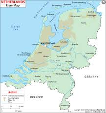 where is amsterdam on a map river map