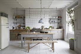 cuisine bois blanchi cuisine grise et blanche collection avec bois blanchi photo