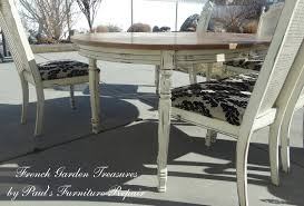 Refinishing Dining Room Table by French Garden Treasures Custom Refinish Dining Table And 5 Chairs