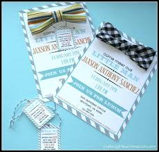 bow tie baby shower invitations baby shower invitations ryanbradley co