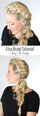 freeze braids hairstyles the elsa braid from frozen this is the prettiest dutch braid i