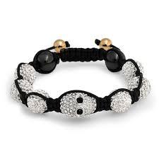 skull crystal bracelet images Shamballa inspired bracelet gold crystal skull swarovski jpg