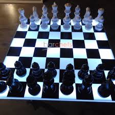 how to set up chess table light up chess checkers led game board table