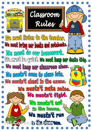 printable instructions classroom classroom rules poster teaching learning pinterest