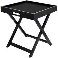 serving tray side table urban shop side table with removable tray multiple colors walmart com