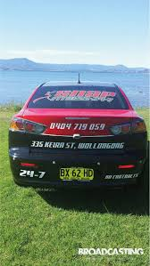 mitsubishi sticker design broadcasting signs wollongong business signage vehicle wraps