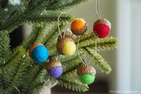 felted acorn ornaments diy tutorial the magic onions