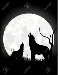the wolf howls on the moon at royalty free cliparts vectors