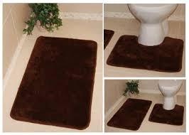 Brown Bathroom Rugs Bolero Machine Washable Bathroom Rugs Non Slip Plain Pedestal