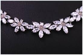 platinum necklace designs images New fashion flower design cubic zirconia diamond pendant necklace jpg