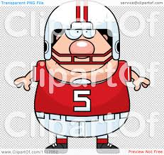 vector cartoon happy chubby white football player royalty