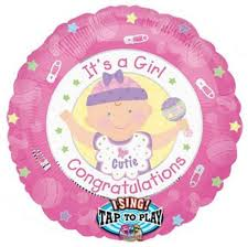 singing balloon delivery congratulation it a girl singing balloon delivery