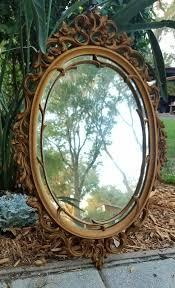 ornate gold syroco frame wall mirror florentine hollywood regency