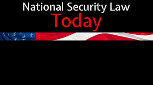 Standing Flag Banners National Security Law Today Podcast