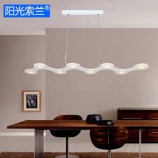 lustre bureau moderne led 16 w blanc acrylique lustre pour salle à manger bar