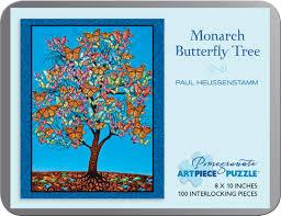 paul heussenstamm monarch butterfly tree 100 jigsaw puzzle