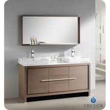 84 Inch Double Sink Bathroom Vanity by Bathroom Vanity Double Sink On 60 Inches Gray Oak Modern Double