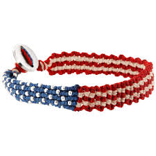 bracelet woven images Promo red white blue woven bracelet the veterans site jpg